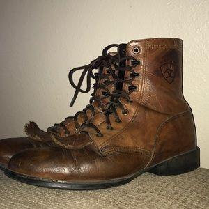 Vintage Ariat Men's 8.5 Beautiful Leather Heritage